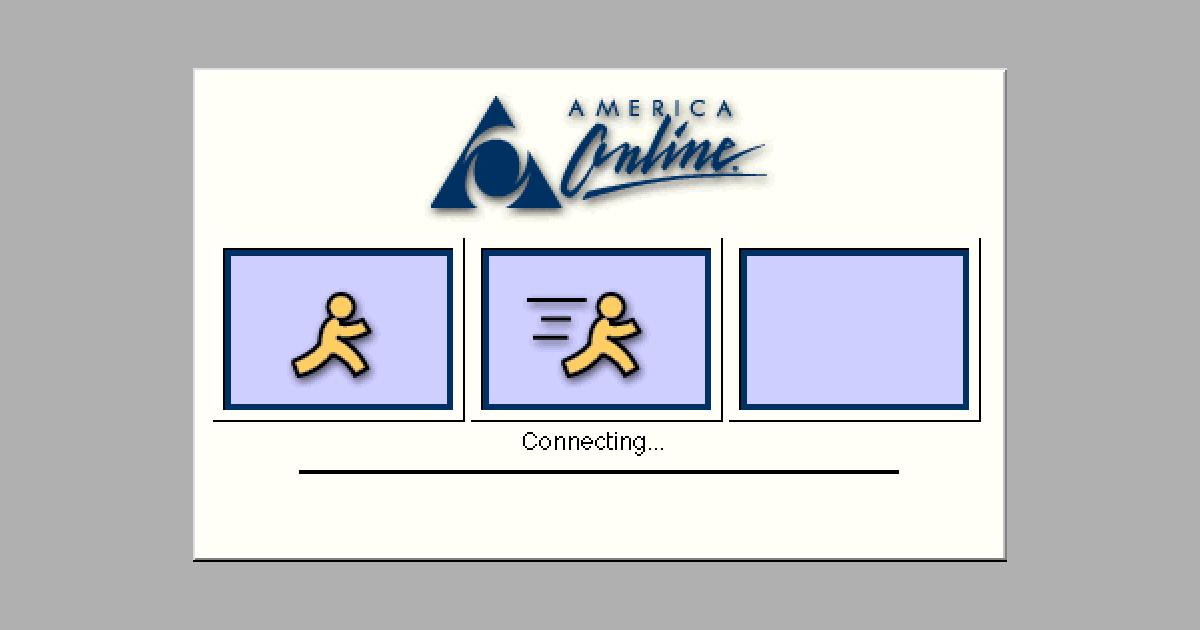 modem, dial up, AOL, American Online, internet, modem